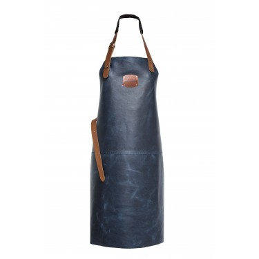 Genuine Orange Classic Leather Apron 82 cm - Blue Navy