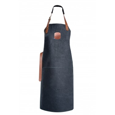 Genuine Orange Classic Leather Apron 82 cm - Black - Hand Made