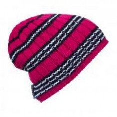 Ortovox Beanie Rock 'N' Woool Stripe /  Very Berry