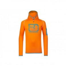 Ortovox Merino Fleece Logo Hoody / Orange Melon XL