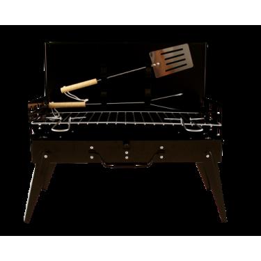 SATEMAKER Kofferbarbecue incl. Spatel en Vleesvork